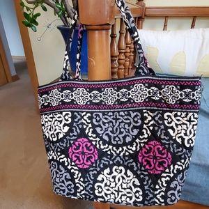 Vera Bradley small open top tote bag